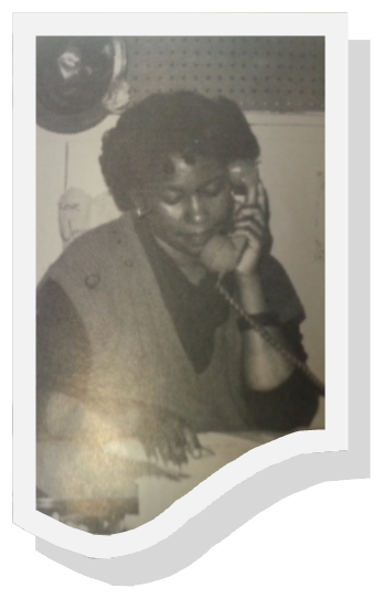 Woman Answering Phone As Part Of 1970s Programs